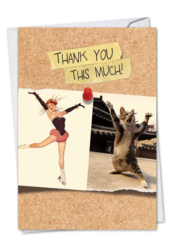 Cats and Chicks: Creative Thank You Printed Card