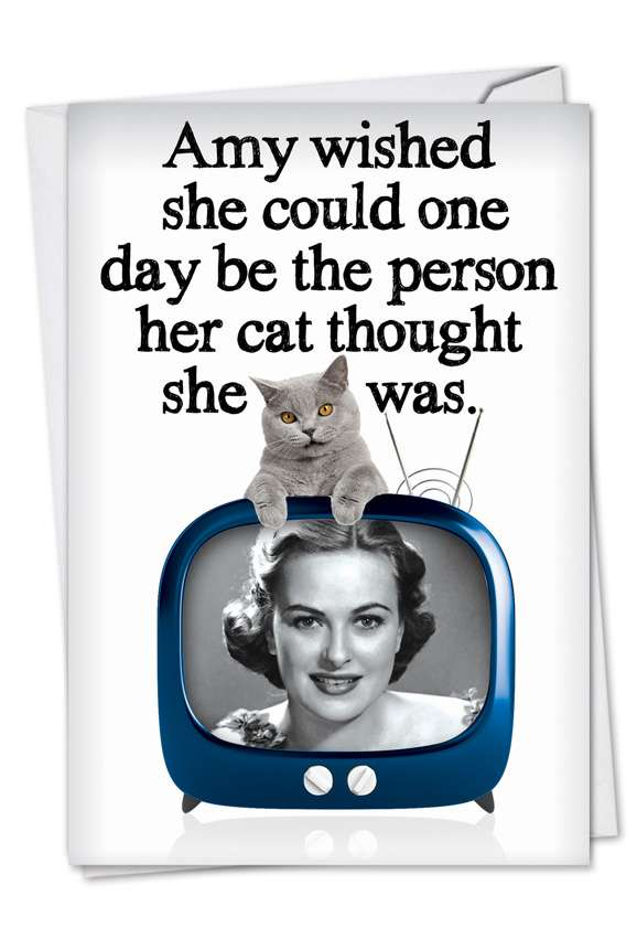 Purrrfect Person: Hilarious Birthday Paper Card