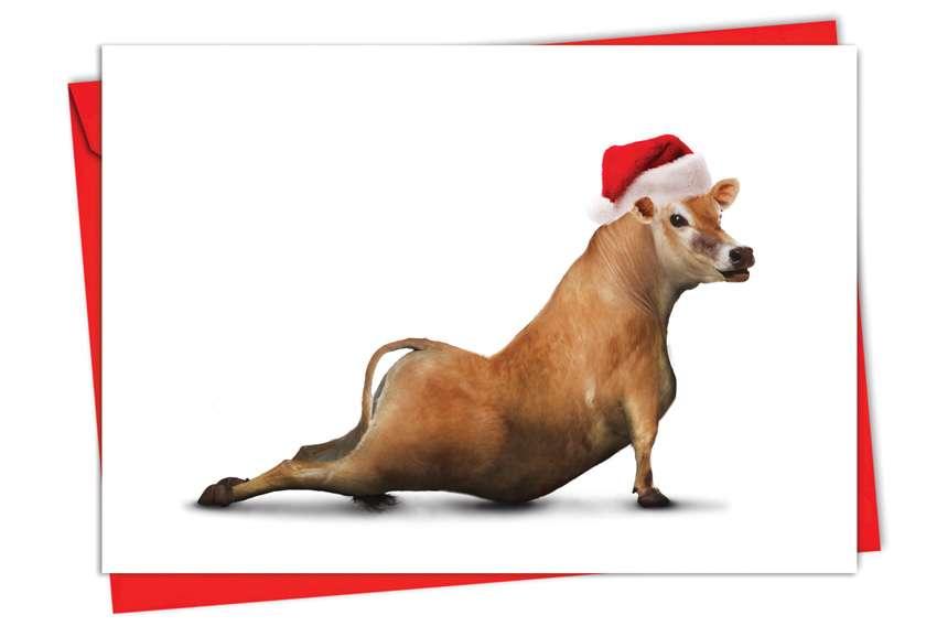 Holiday Bovine Nirvana: Creative Christmas Paper Card