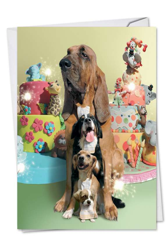 Puppy Love: Stylish Birthday Paper Greeting Card