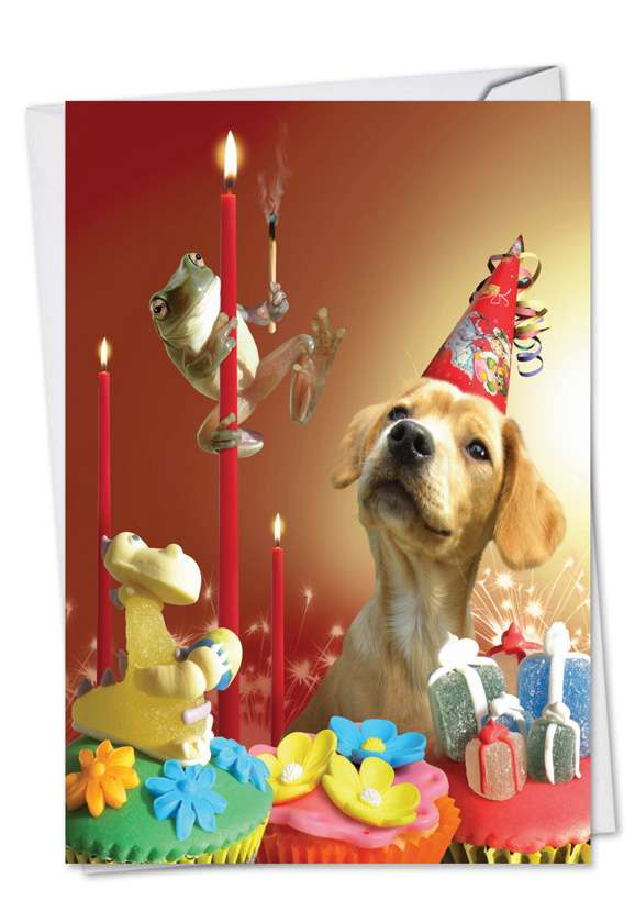 Puppy Love: Stylish Birthday Paper Card