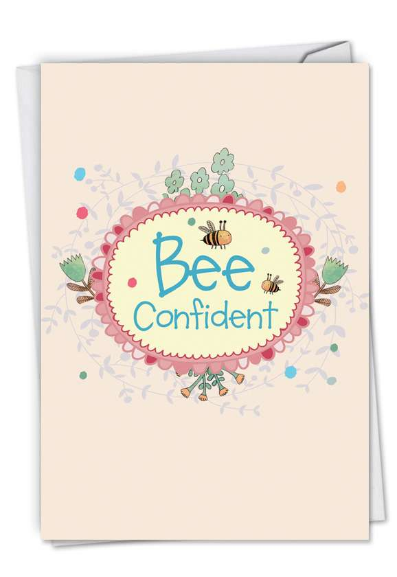 Let It Bee: Stylish Graduation Greeting Card