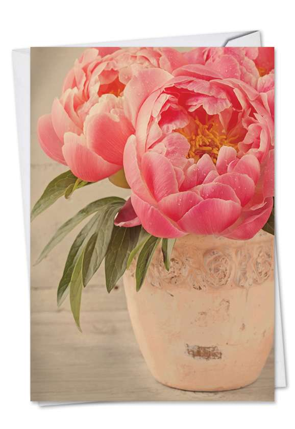 Full Blooms: Stylish Thank You Greeting Card