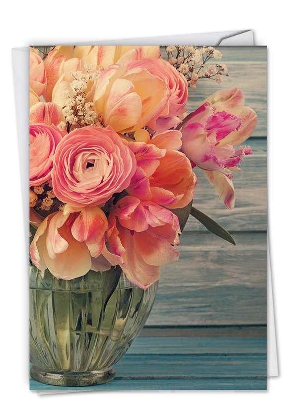 Full Blooms: Creative Anniversary Printed Card