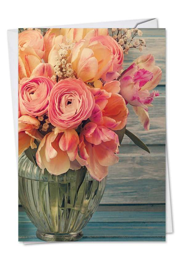 Full Blooms: Stylish Mother's Day Paper Greeting Card