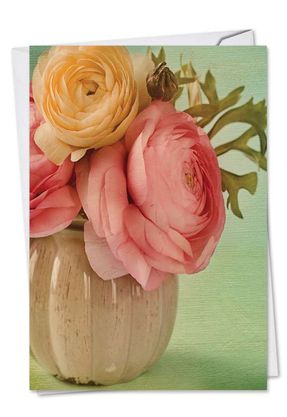 Full Blooms: Creative Get Well Printed Greeting Card