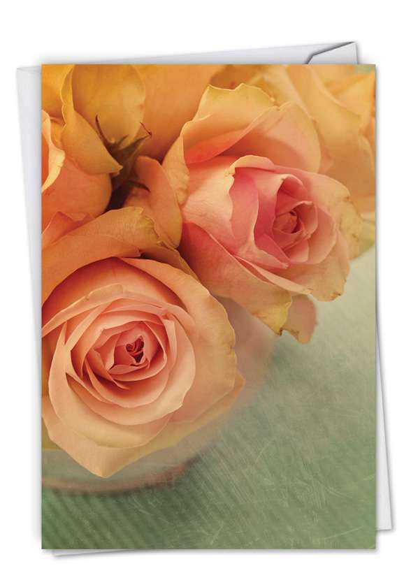 Full Blooms: Stylish Sympathy Paper Card