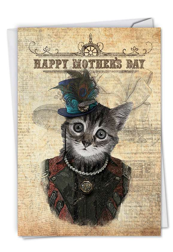 Steampunk Cats Card
