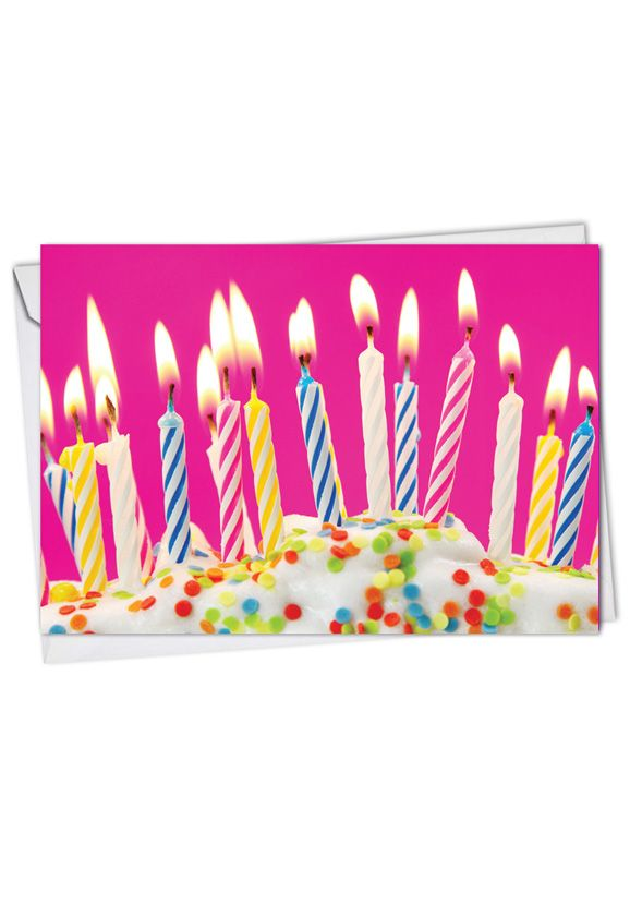 Candles: Creative Birthday Printed Card