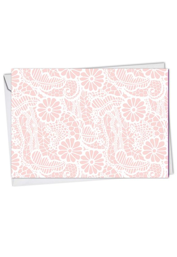 Lacy Days: Stylish Thank You Paper Greeting Card