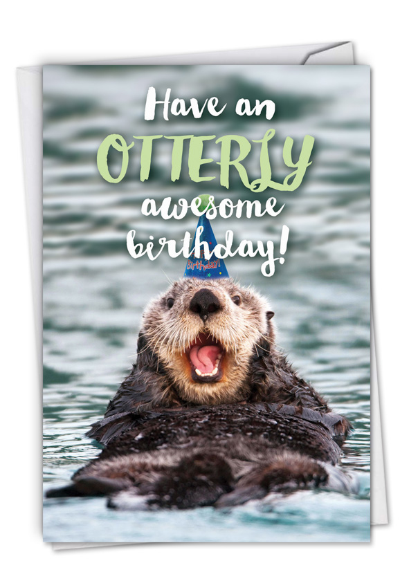 Otterly Awesome: Humorous Birthday Card