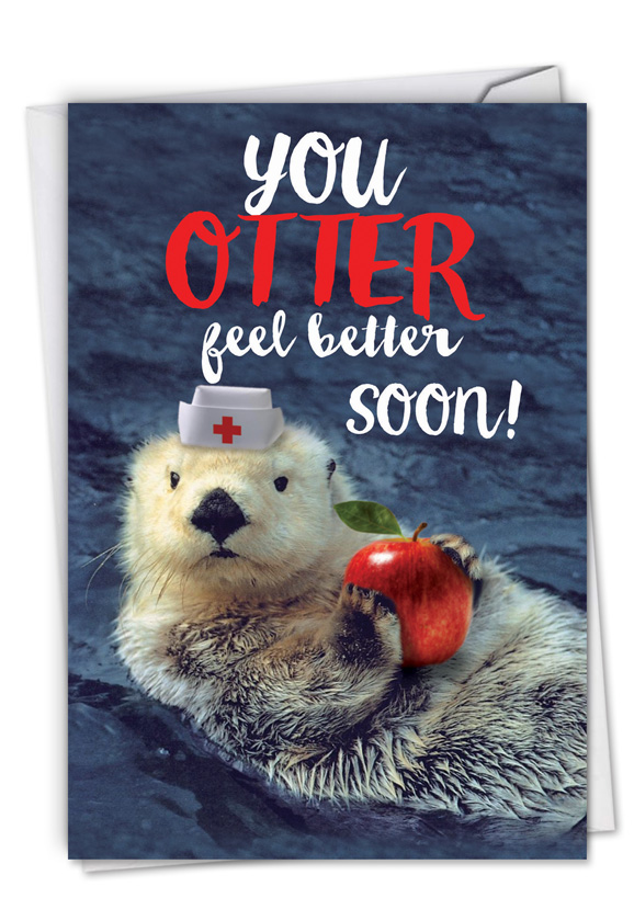 Otterly Awesome: Funny Get Well Paper Card