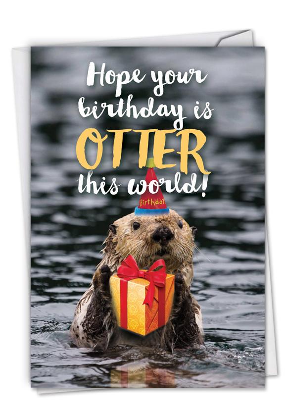 Otterly Awesome: Hilarious Birthday Printed Card
