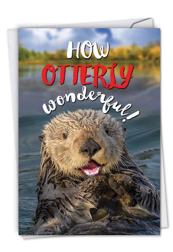 Otterly Awesome: Humorous Congratulations Paper Greeting Card