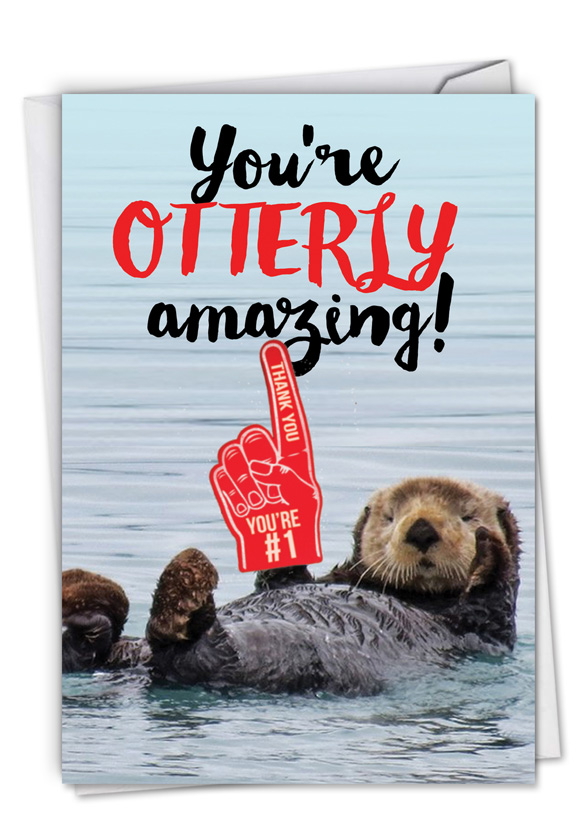 Otterly Awesome: Funny Thank You Card