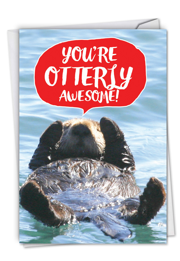 Otterly Awesome: Hilarious Anniversary Greeting Card