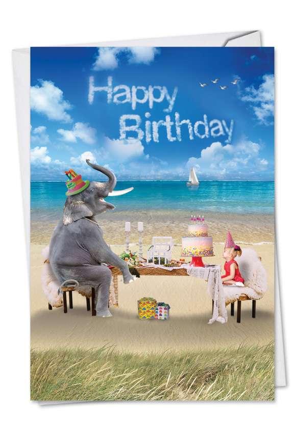 Elefantasy: Creative Birthday Paper Greeting Card