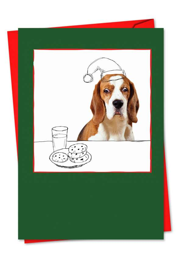 Holiday Dogs & Doodles: Stylish Christmas Printed Card