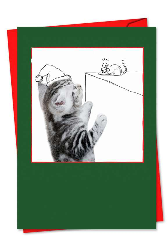 Cats & Doodles: Stylish Christmas Greeting Card