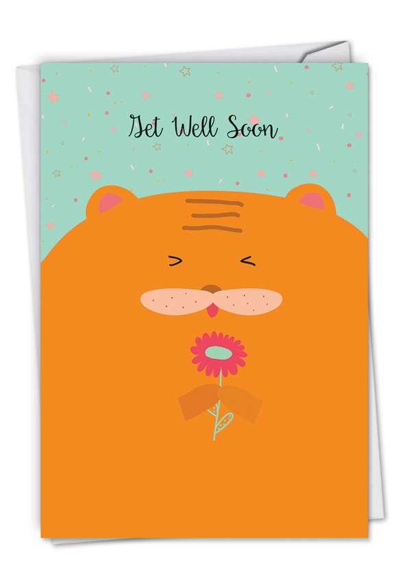 Fur You: Stylish Get Well Greeting Card