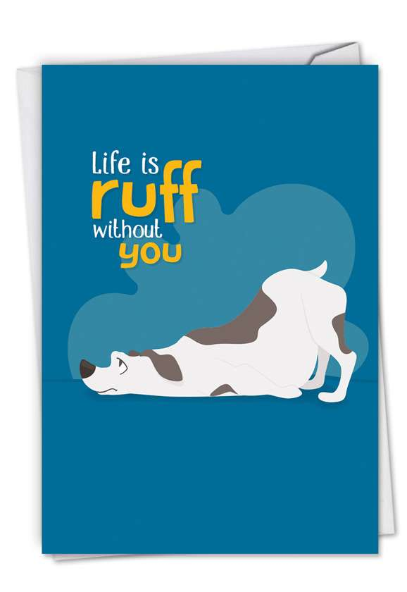 Doggone Awesome Notes: Creative Miss You Paper Greeting Card