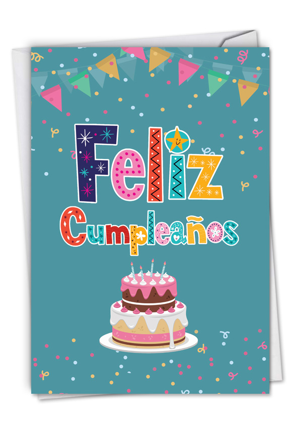 Feliz Cumpleanos: Funny Birthday Paper Greeting Card