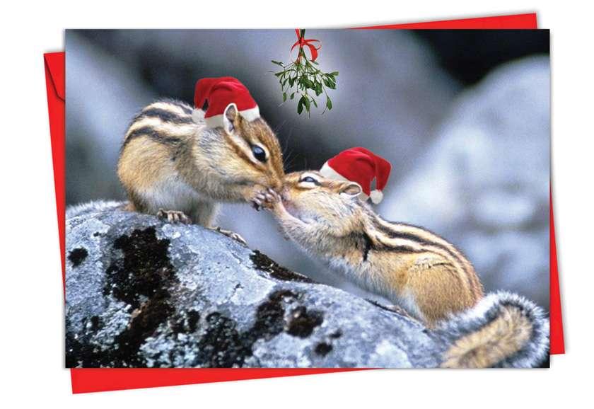 Holiday Animal Smackers: Creative Christmas Paper Greeting Card