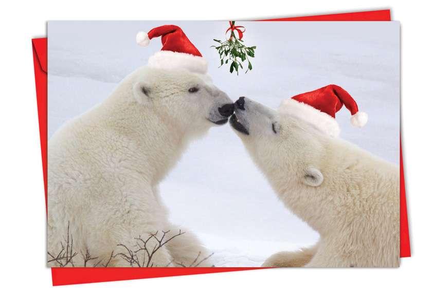 Holiday Animal Smackers: Creative Christmas Printed Card