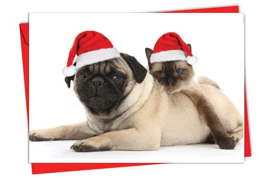 Copy Cats: Creative Christmas Printed Greeting Card