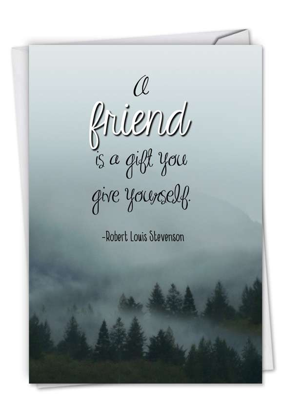 Friendly Words: Stylish Friendship Paper Card