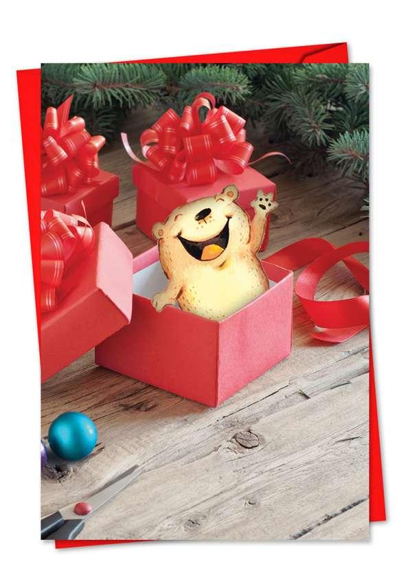 Holiday Fuzzy Tummies: Creative Christmas Greeting Card