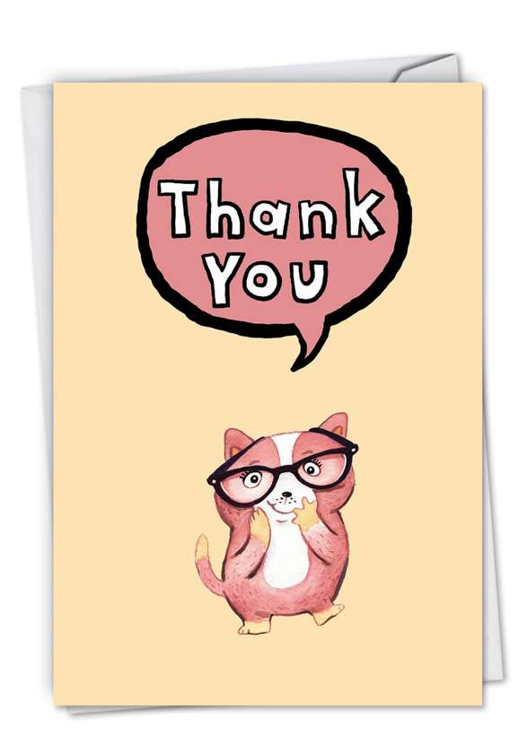 Fuzzy Tummies: Creative Thank You Paper Greeting Card