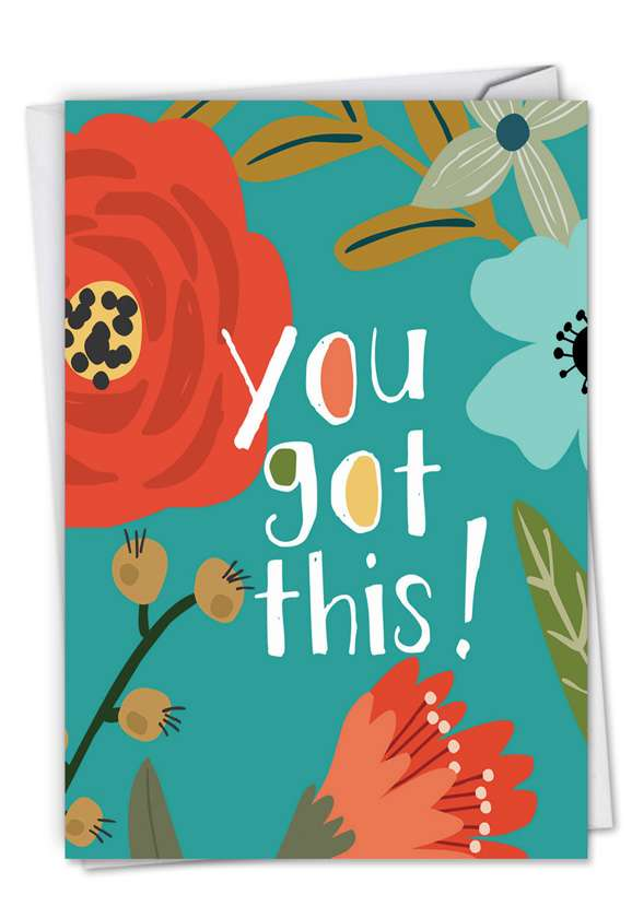 Creative Congratulations Printed Greeting Card by Batya Sagy from NobleWorksCards.com - Optimisms