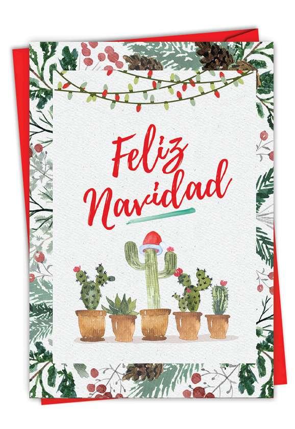 Feliz Navidad: Hilarious Merry Christmas Printed Greeting Card