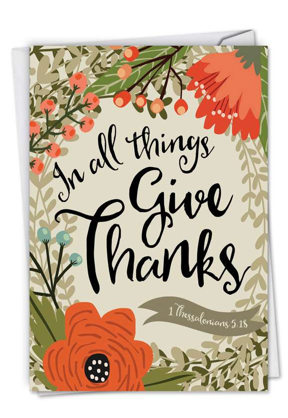 Blessings: Creative Thank You Printed Card