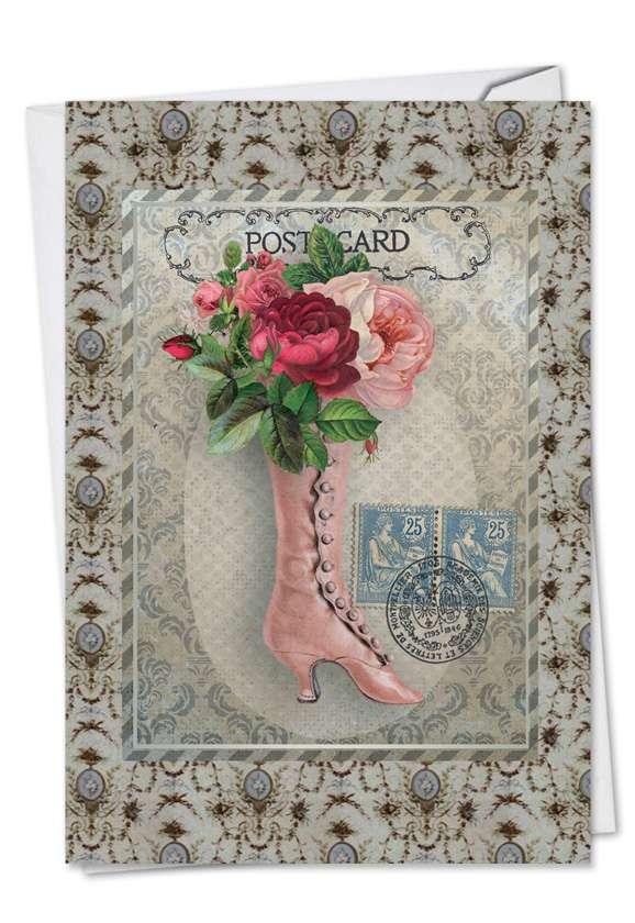 Vintage Kicks: Creative Mother's Day Printed Greeting Card