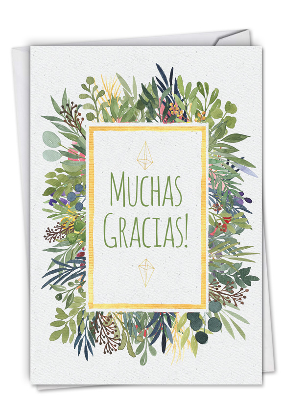Muchas Gracias: Funny Thank You Paper Card
