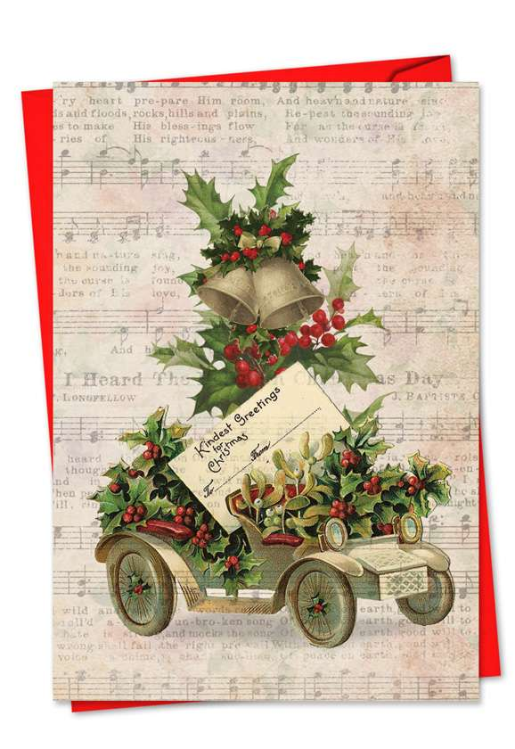 Holly Notes: Creative Christmas Paper Card
