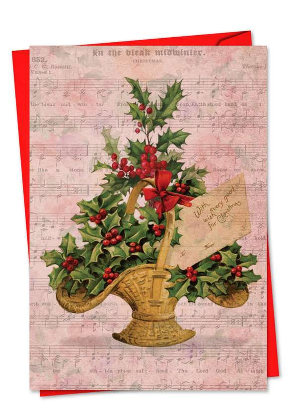 Holly Notes: Creative Christmas Printed Card