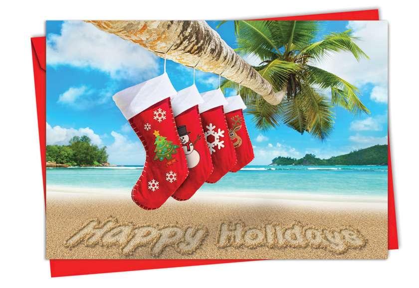 Season's Beachin': Creative Christmas Paper Card