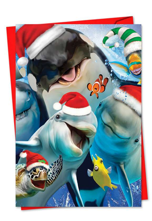 Merry Christmas to Zoo: Creative Christmas Printed Greeting Card