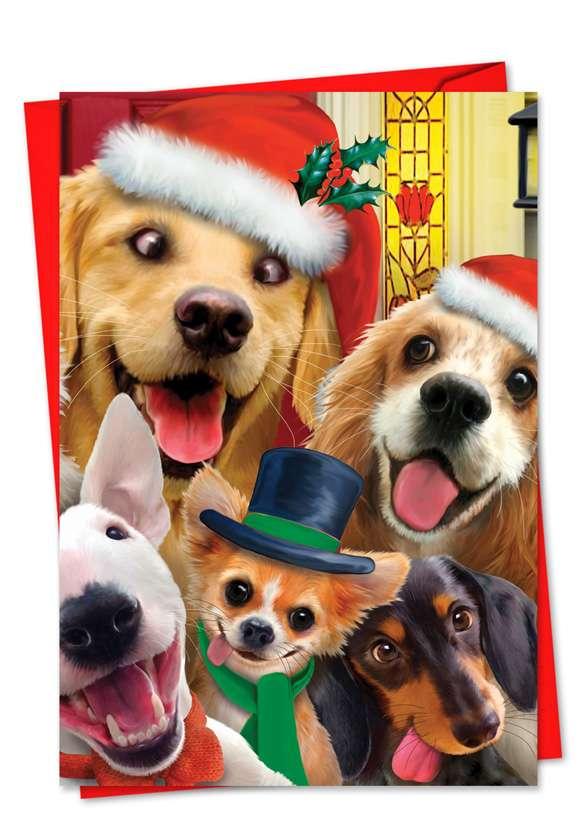 Merry Christmas to Zoo: Stylish Christmas Paper Card