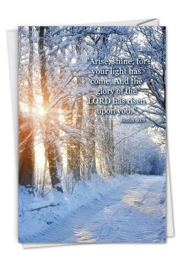 Winter Sunrise - Isaiah 60:1: Stylish Congratulations Card