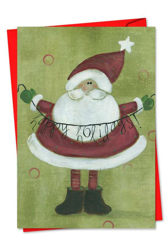 Santa Banners: Creative Christmas Printed Greeting Card