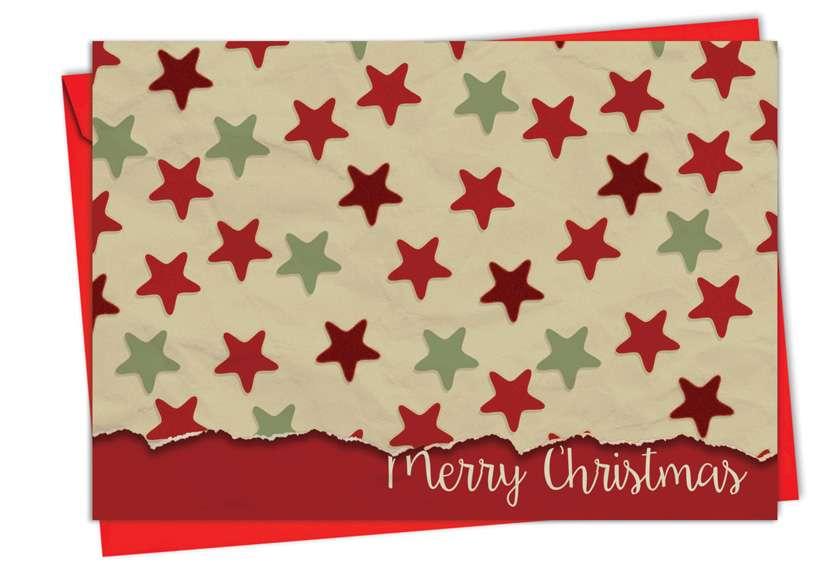 Crafty Christmas: Stylish Christmas Printed Card