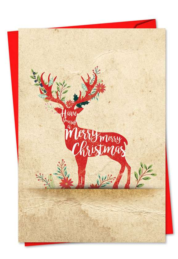 Holiday Knockout: Creative Christmas Greeting Card