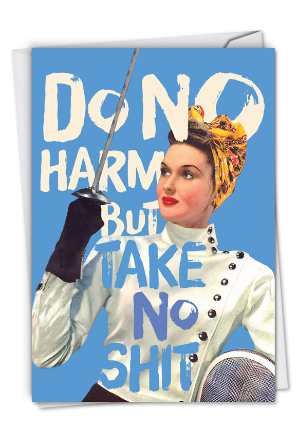 Do No Harm: Hysterical All Occasions Blank Printed Greeting Card