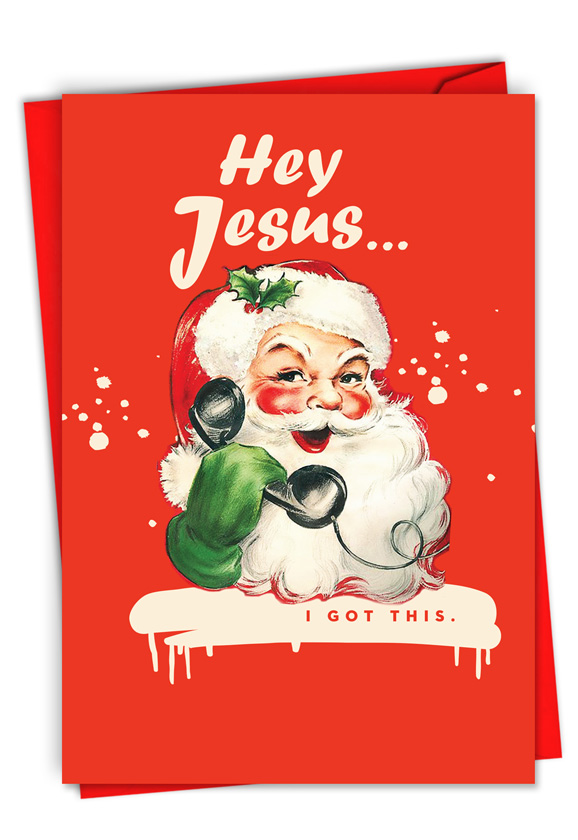 Hey Jesus: Funny Merry Christmas Paper Card