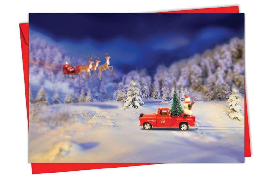 Toy Trucks 'N Trees: Creative Christmas Greeting Card