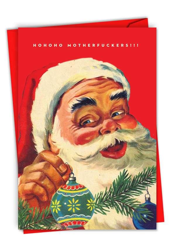 HoHoHo Mothers: Humorous Merry Christmas Paper Greeting Card